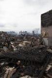 Huracán Sandy de las consecuencias foto de archivo