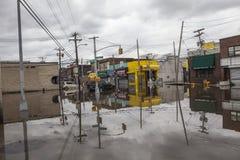 Huracán Sandy de las consecuencias Foto de archivo libre de regalías