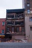 Huracán Sandy en New York City Imagen de archivo libre de regalías