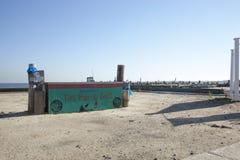 Huracán Sandy - playa de la unión de 1 año más tarde Imagen de archivo libre de regalías