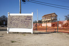 Huracán Sandy - playa de la unión de 1 año más tarde Fotografía de archivo libre de regalías