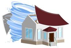 Huragan niszczył dach dom Własność insurance ilustracja wektor
