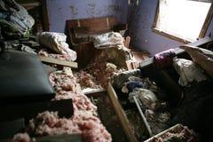 huragan zniszczonych pokój Obraz Royalty Free