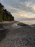 Huraganowa rzeka w Górnym półwysepie Michigan zdjęcie royalty free