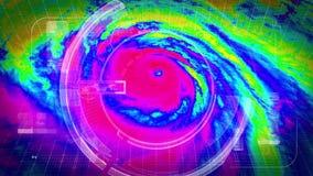Huraganowy Radarowy Pogodowej satelity widok z lotu ptaka zdjęcie wideo