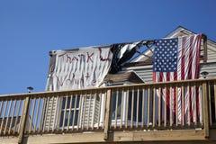 Huraganowy Sandy - 1 roku Opóźneni średniogórza Obraz Stock