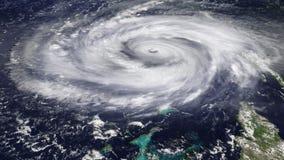 Huraganowy Satelitarny widok (HD) ilustracja wektor