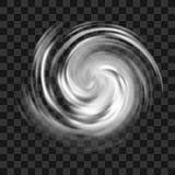 Huraganowy symbol na ciemnym przejrzystym tle royalty ilustracja