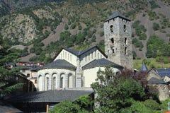 Hurch ¡ Ð St Stephen Sant Esteve от Carrer de Ла Vall в Андорра-ла-Вьехе, княжества Андорры стоковая фотография rf