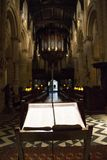 Ð¡hurch bible. Old Church in UK with bible stock photo