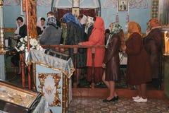 Сhurch choir. VOYUTYN, UKRAINE - 14 October 2008: Сhurch choir during the religious celebration Pokrov Royalty Free Stock Photography