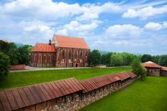 Hurch in old part of Kaunas town Royalty Free Stock Photo