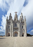 Hurch of the Sacred Heart - church at the top of tibidabo mountain, Barcelona. Spain Royalty Free Stock Photos