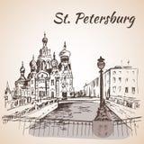 Hurch wybawiciel w St Petersburg, Rosja ilustracji