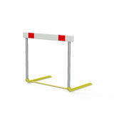Hurdle. An athletics hurdle,  on a white background Royalty Free Stock Image