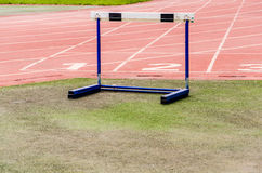 Hurdle on Athletic track Royalty Free Stock Image