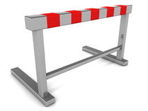 Hurdle barrier. On white background, concept of challenge and opportunity Royalty Free Stock Images