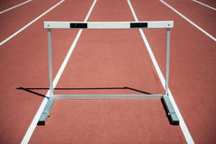 Hurdle. One hurdle on the stadium Royalty Free Stock Photo