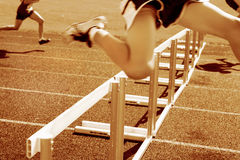 Hurdle race Royalty Free Stock Image