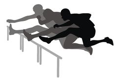 Hurdle race. Abstract vector illustration of hurdle race Royalty Free Stock Photography