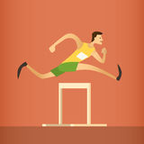 Hurdle Race Running Athlete Sport Competition Royalty Free Stock Image