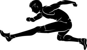Hurdle Race Silhouette Royalty Free Stock Images