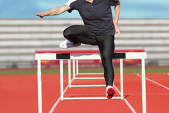 Hurdle runner Royalty Free Stock Image