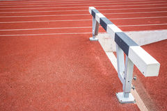Hurdle sport challange Royalty Free Stock Images