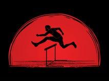 Hurdler hurdling Stock Image
