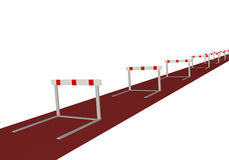 Hurdles Royalty Free Stock Photo