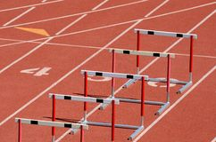 Hurdles Stock Photography