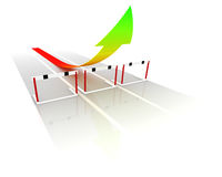 Hurdles. A metaphorical business hurdle race Royalty Free Stock Photography