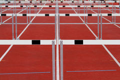 Hurdles. Group of track and field hurdles Stock Images