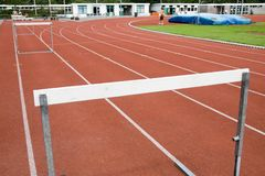 Hurdles for athletics Royalty Free Stock Photo