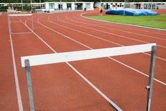 Hurdles for athletics Royalty Free Stock Photo