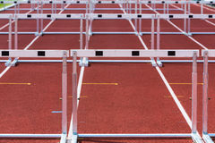 Hurdles in athletics Royalty Free Stock Photography