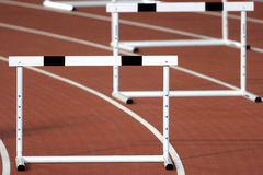 Hurdles close 02 Royalty Free Stock Image