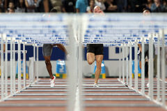 Hurdles Final Royalty Free Stock Photography