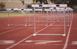 Hurdles Low Royalty Free Stock Photography