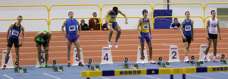 On the hurdles race Royalty Free Stock Images