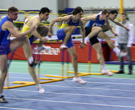 On the hurdles race Royalty Free Stock Photo