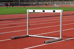 Hurdles run in a line royalty free stock photo