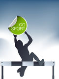 Hurdles sport Royalty Free Stock Photos