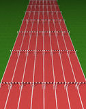 Hurdles track Stock Image