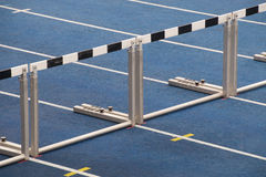 Hurdles for track running Royalty Free Stock Image