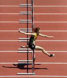 Hurdles Woman Run Track Royalty Free Stock Photo