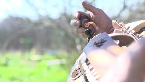 Hurdy gurdy stock footage