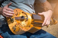 Hurdy-Gurdy Player Stock Photography