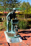 Hurdy Gurdy statue, Newport, RI. Stock Images