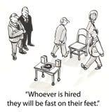 Hurende stoelen stock illustratie
